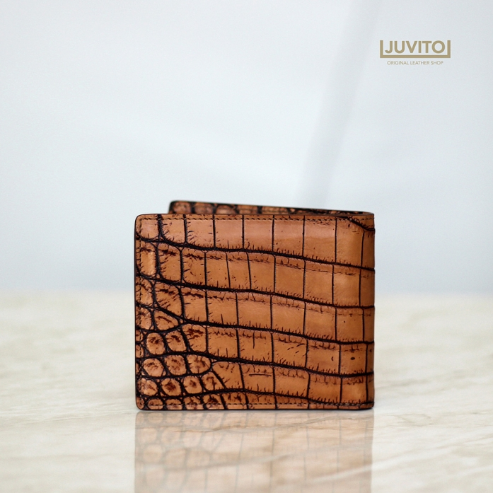 CROCODILE S-WALLET Antique BROWN MATTE/ AB7933M