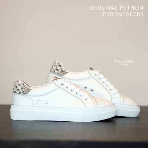 PALMER P50 / Sneakers / PYTHON / WHITE / woman