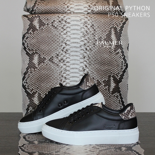 PALMER P50 / Sneakers / PYTHON / BLACK / woman