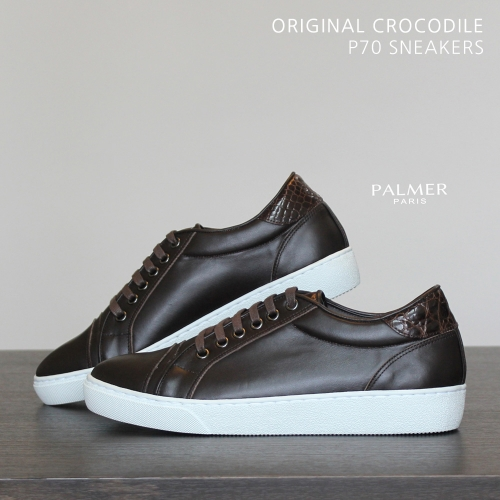PALMER P70 / Sneakers / CROCODILE / DARK BROWN / man