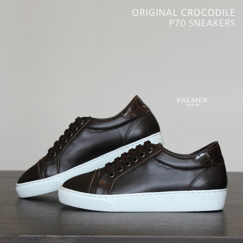 PALMER P70 / Sneakers / CROCODILE / DARK BROWN / woman