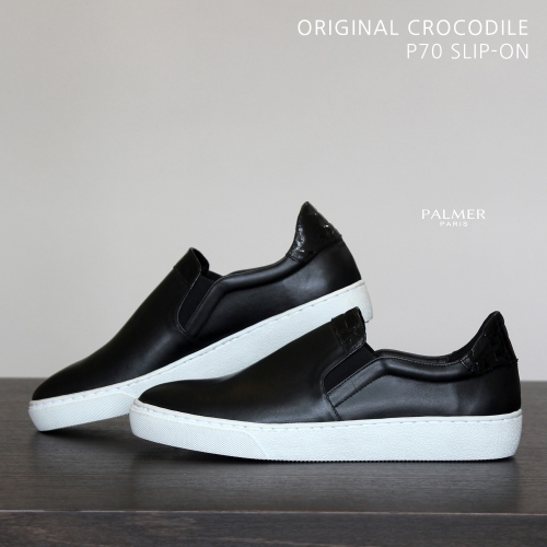 PALMER P70 / SLIP-ON / CROCODILE / BLACK / man