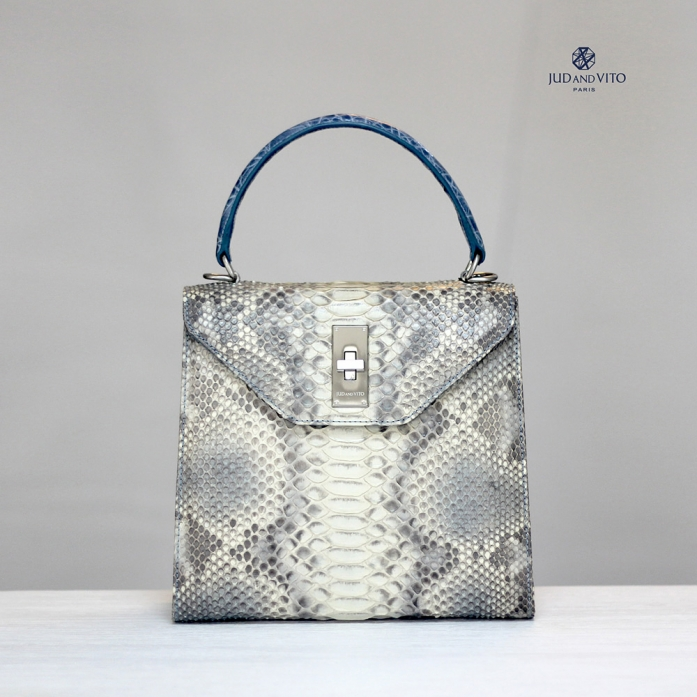 HEXA BAG 500 / PYTHON /  NO.500 / ORIGINAL Pebble Natural