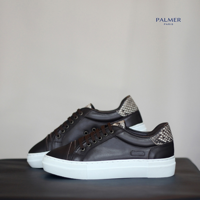 PALMER P50 / Sneakers / PYTHON / DARKBROWN / woman