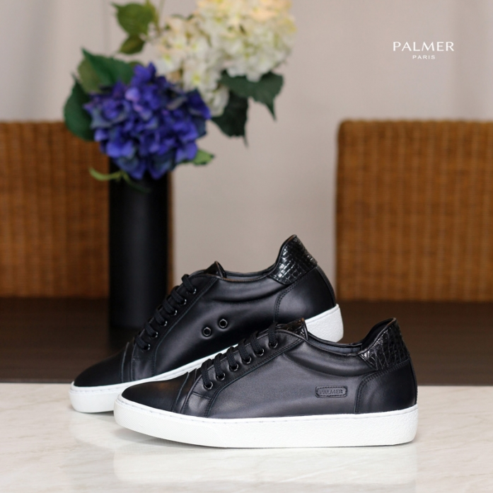 PALMER P70 S / Sneakers / CROCODILE / BLACK / Man, Woman