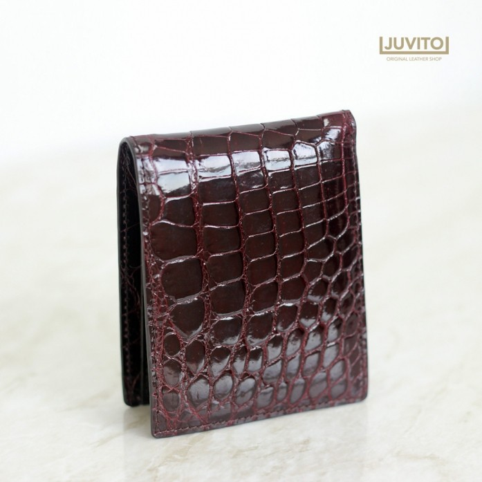 CROCODILE S-WALLET / Burgundy / AB7933