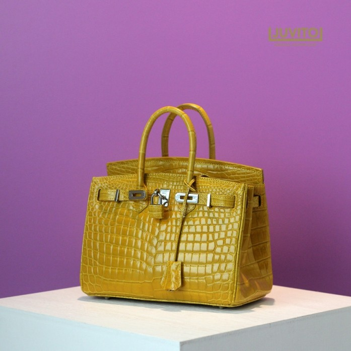HENG LONG / CROCODILE BAG / MUSTARD / Bk25 SIZE / CRO4200