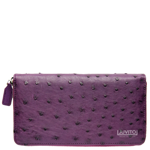 OSTRICH ZIPUP-WALLET 8412 PURPLE